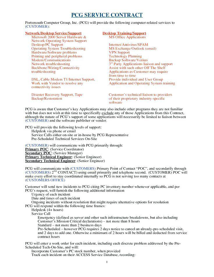 Cleaning Service Agreement Example