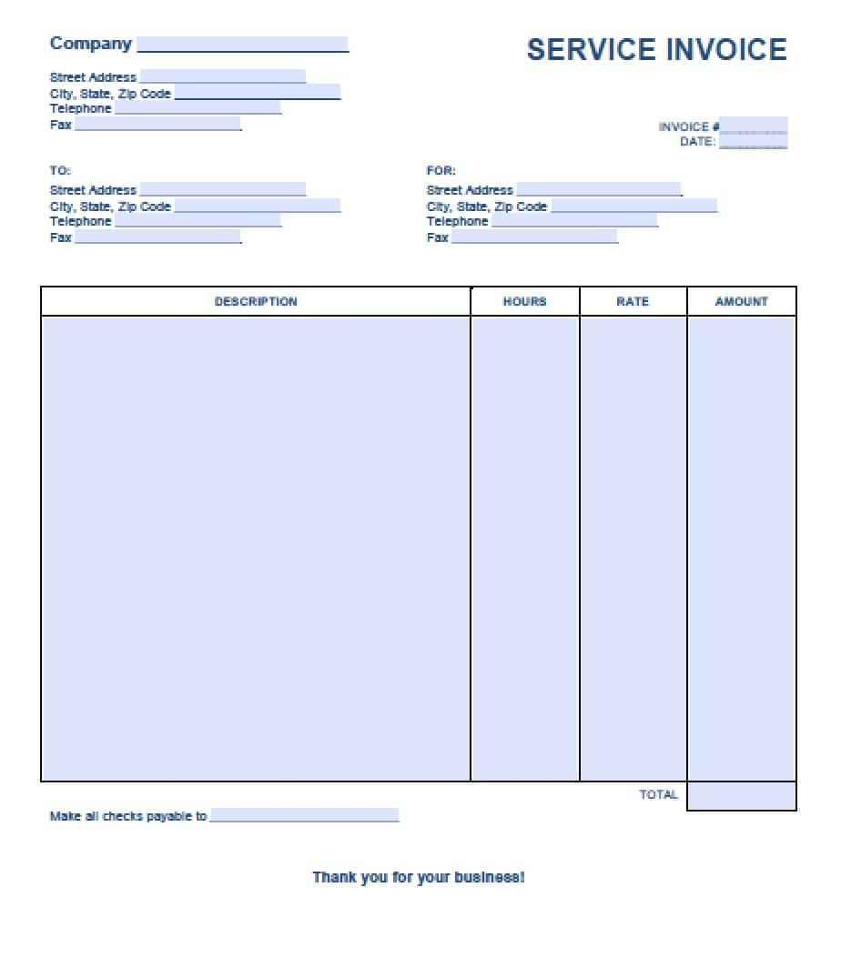 Cleaning Service Invoice Example