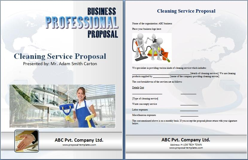Cleaning Service Proposal Template Free