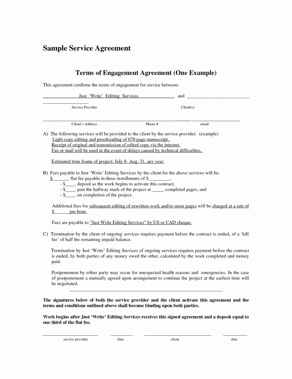 Cleaning Services Contract Agreement Doc