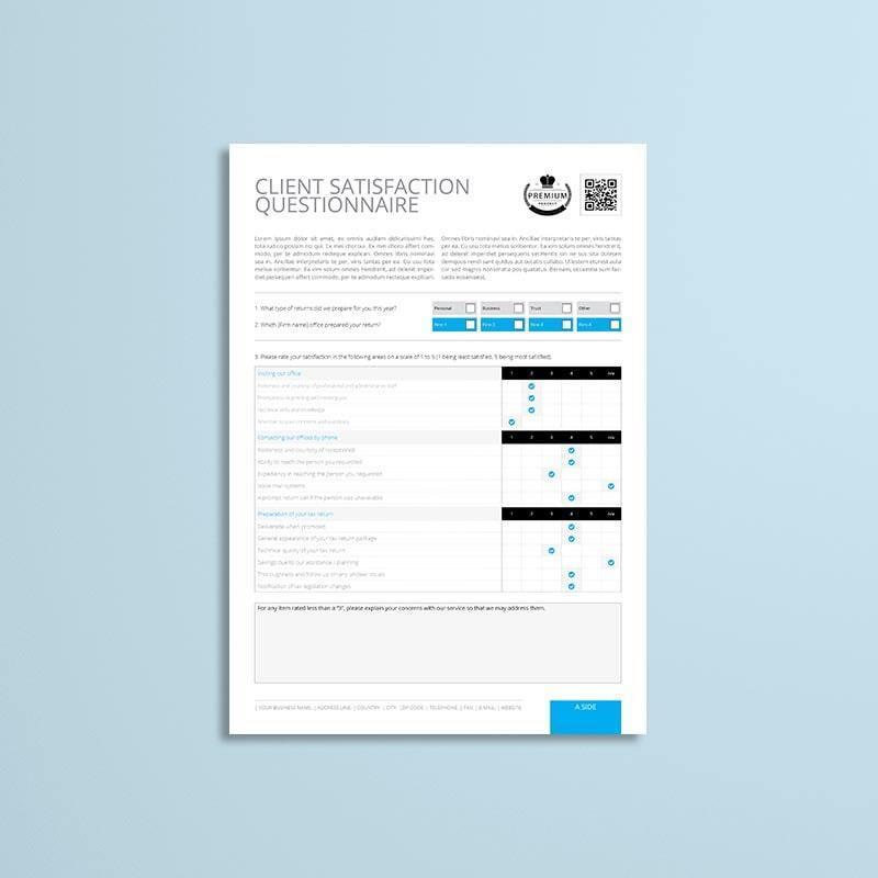 Client Satisfaction Questionnaire Template