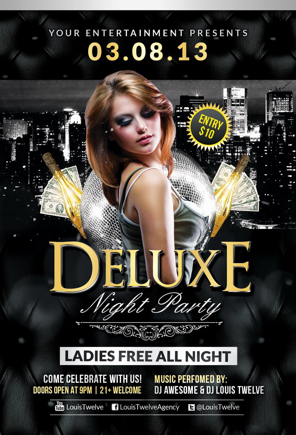 Club Flyers Template Free
