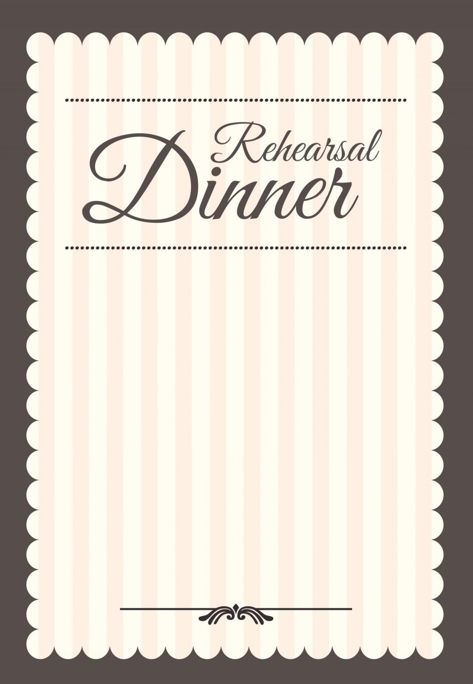 Cocktail Dinner Invitation Template