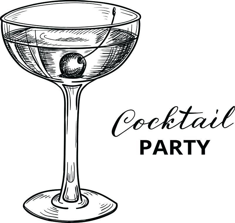 Cocktail Glass Invitation Template