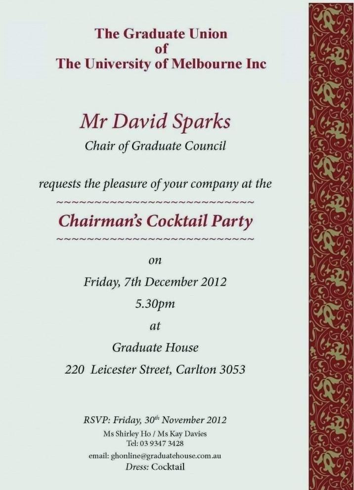 Cocktail Invitation Samples