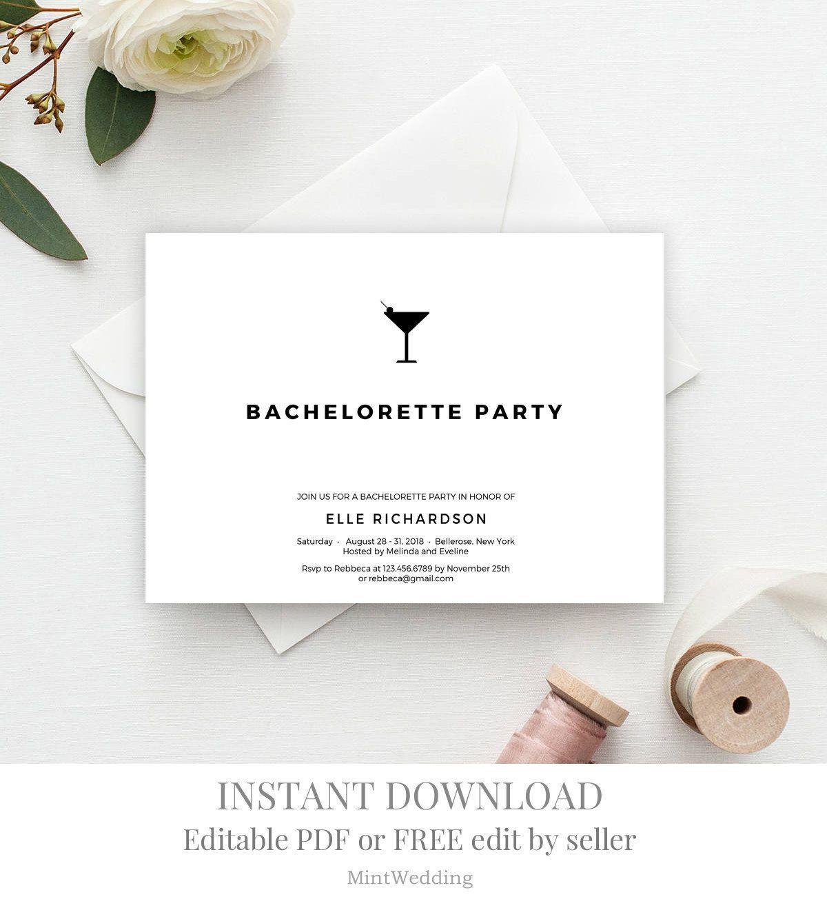 Cocktail Invitation Template Printable