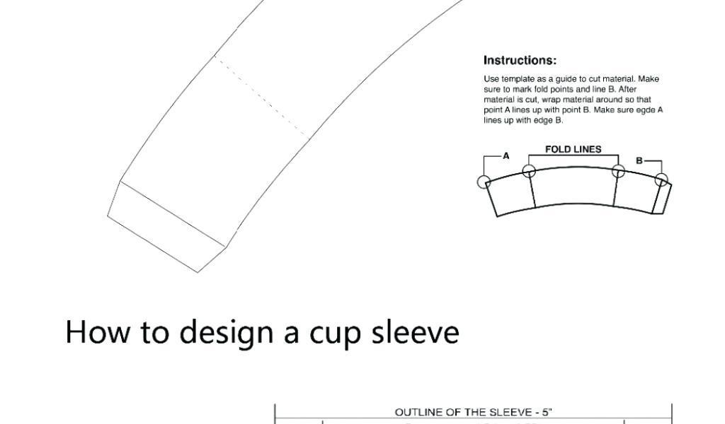 Coffee Cup Sleeve Template Pdf