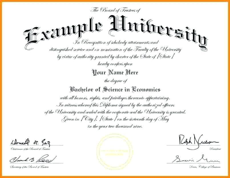 College Degree Certificate Templates
