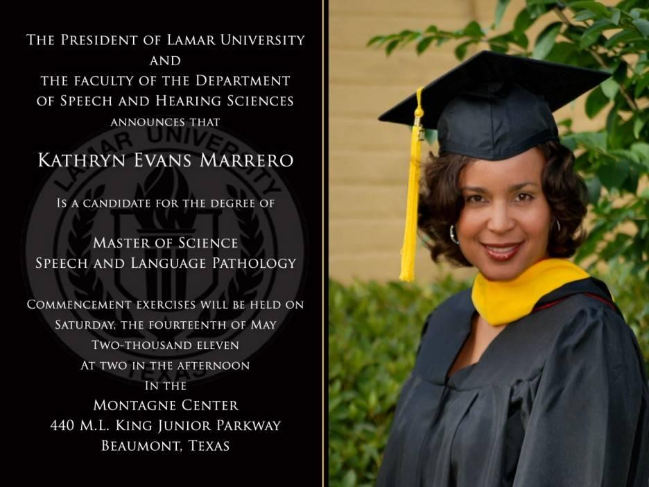 College Graduation Announcement Sample