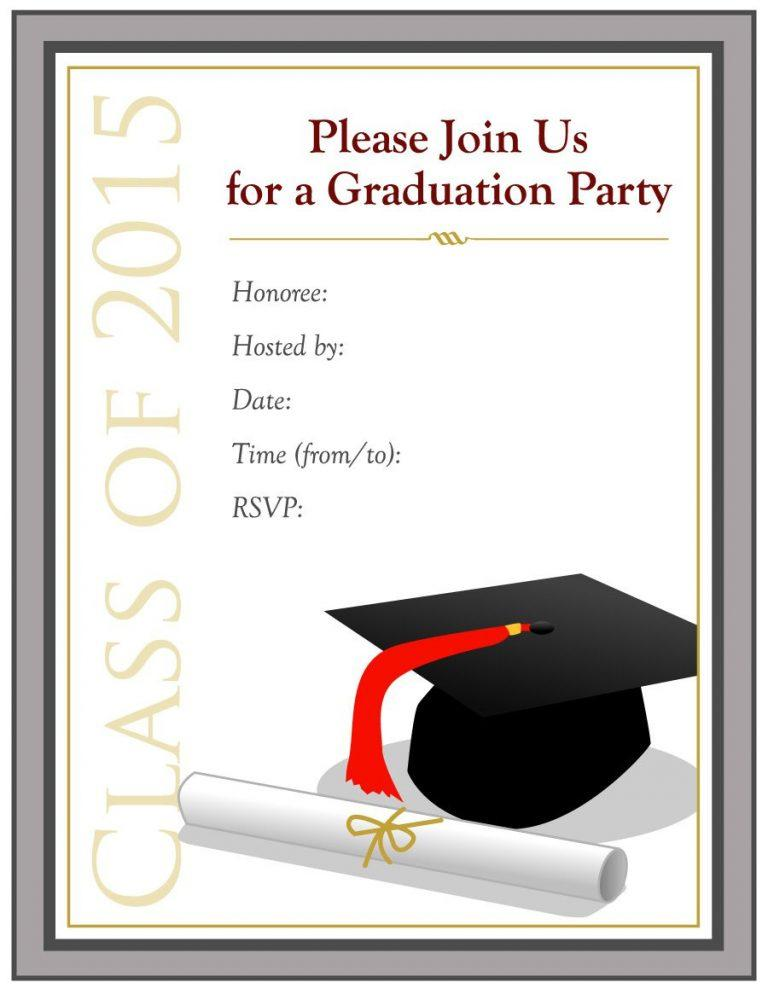 College Graduation Invitations Templates Free