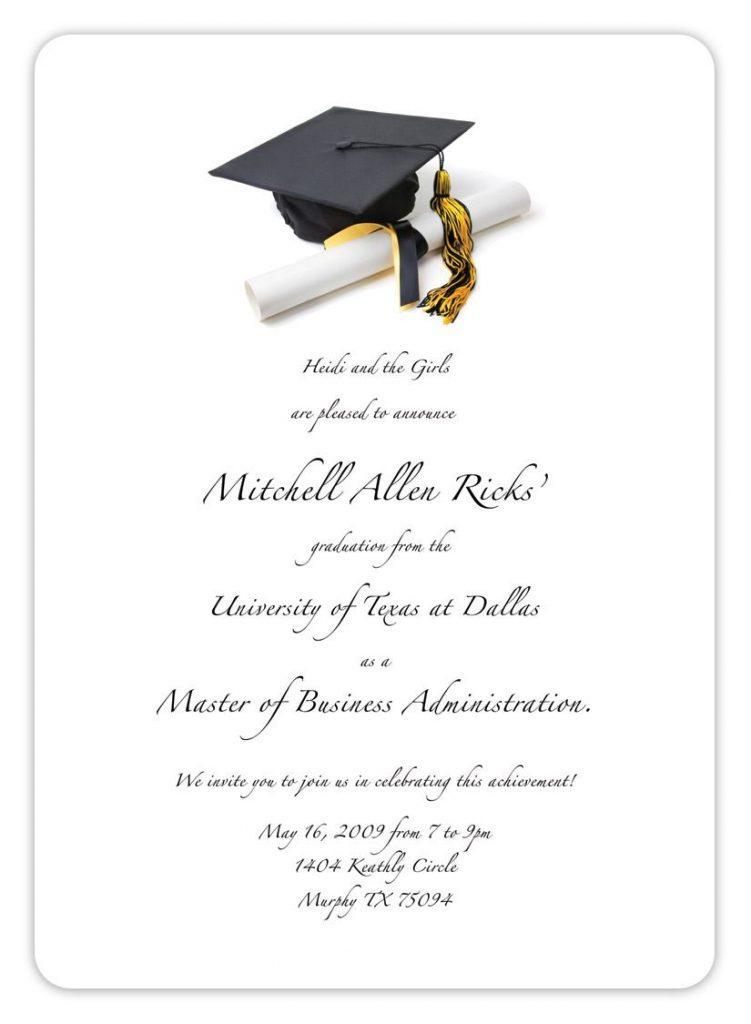 College Graduation Party Announcement Template