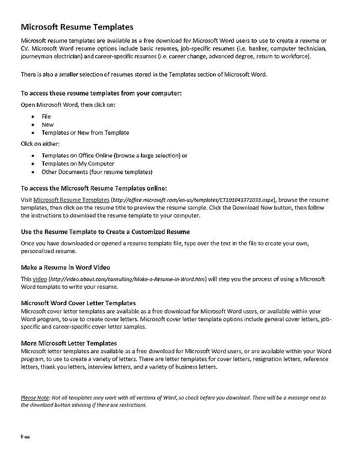 Combination Resume Template Download