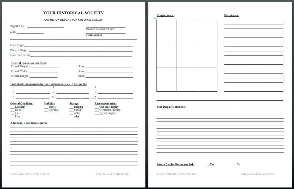 Commercial Building Condition Survey Template