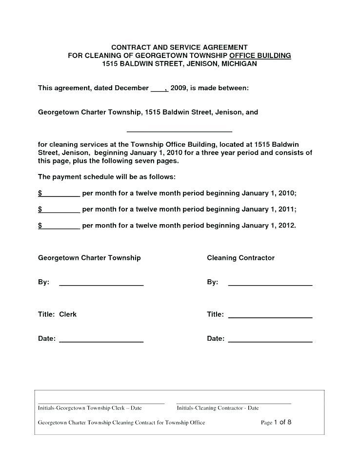 Commercial Cleaning Contracts Templates