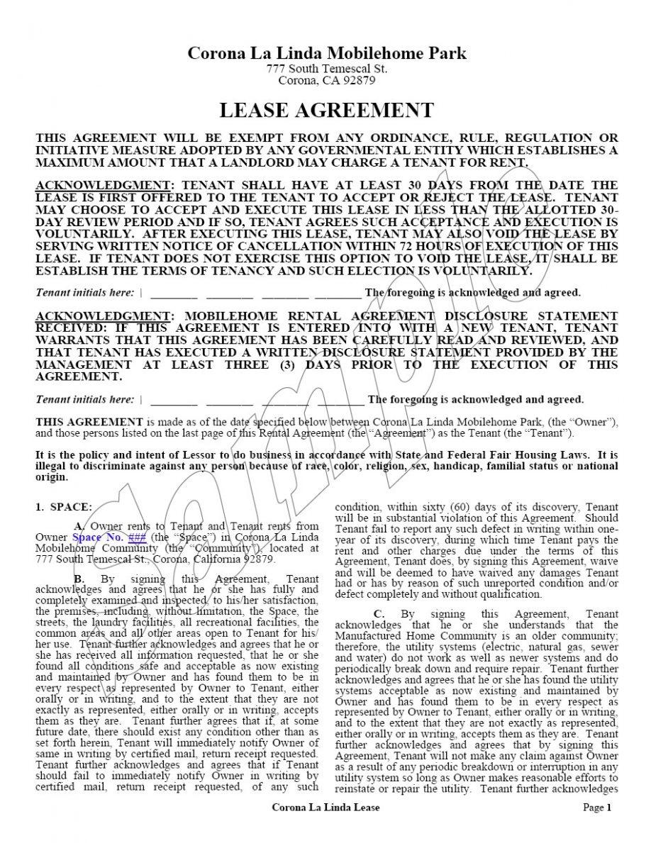 Commercial Lease Agreement Word Format