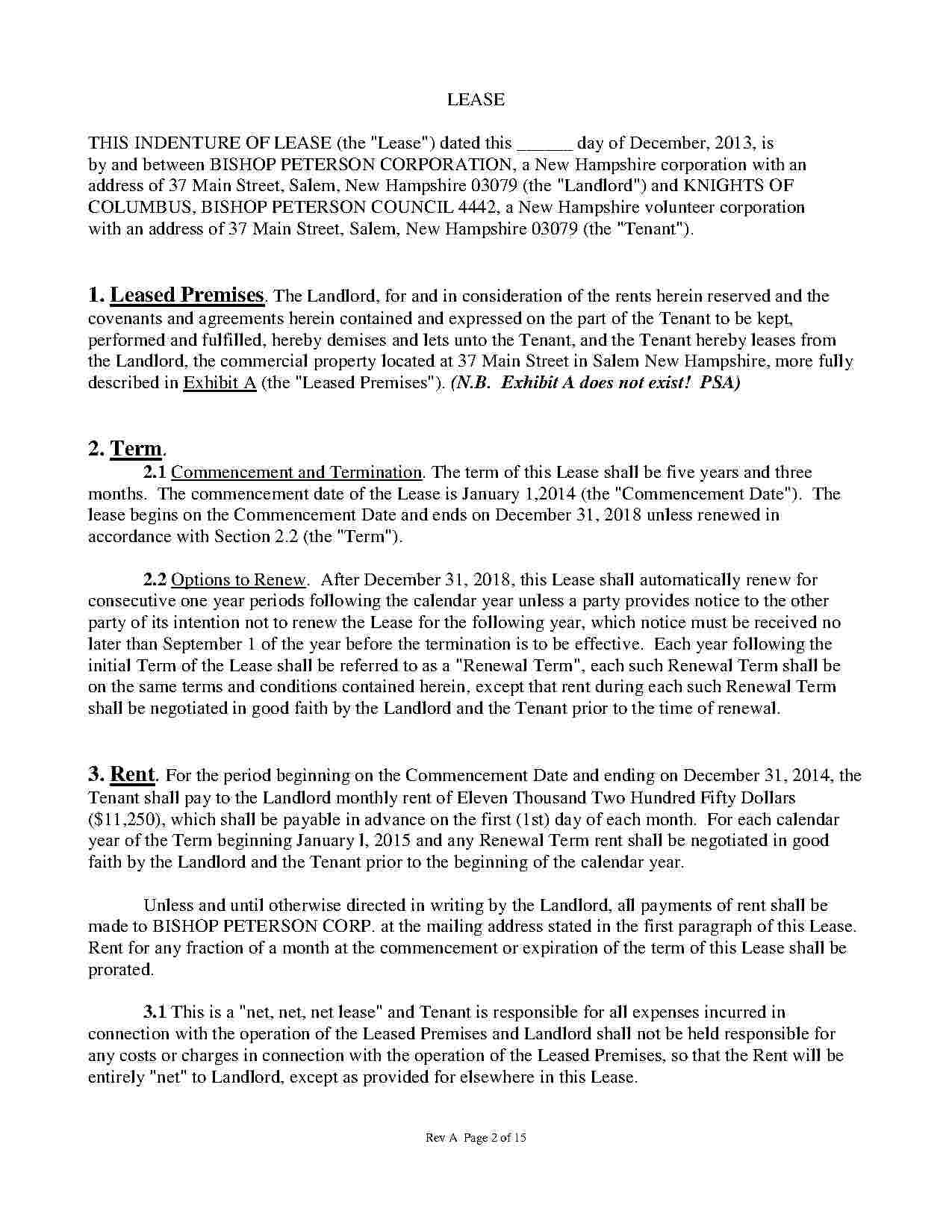 Commercial Lease Templates Free Download
