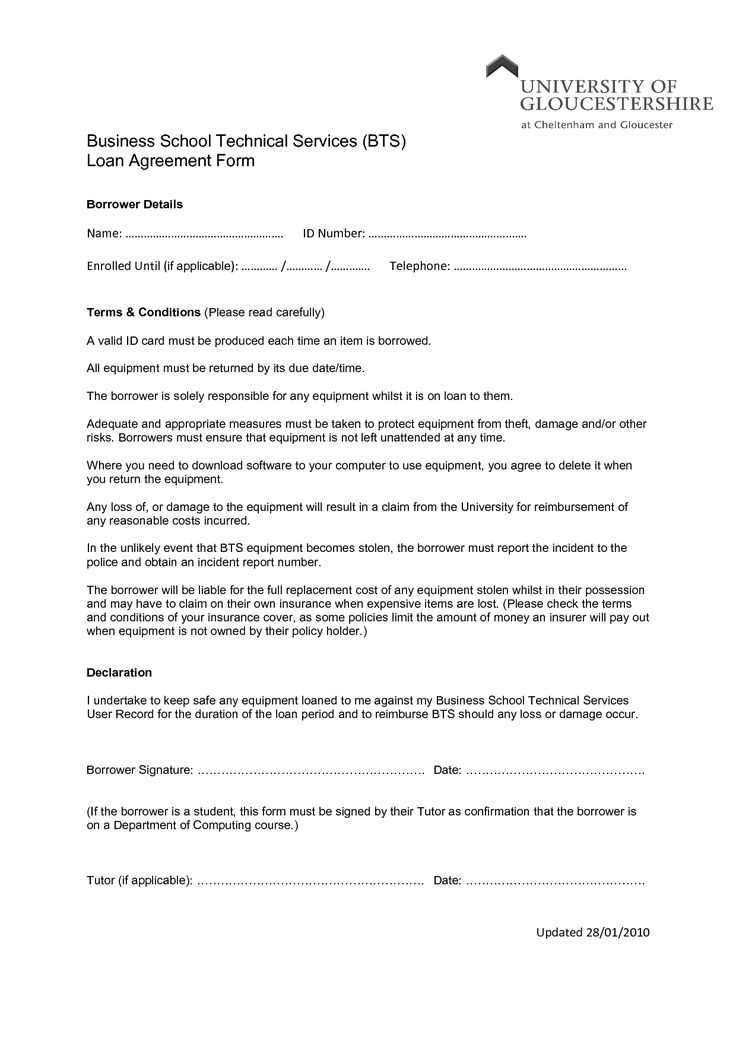 Commercial Loan Proposal Template