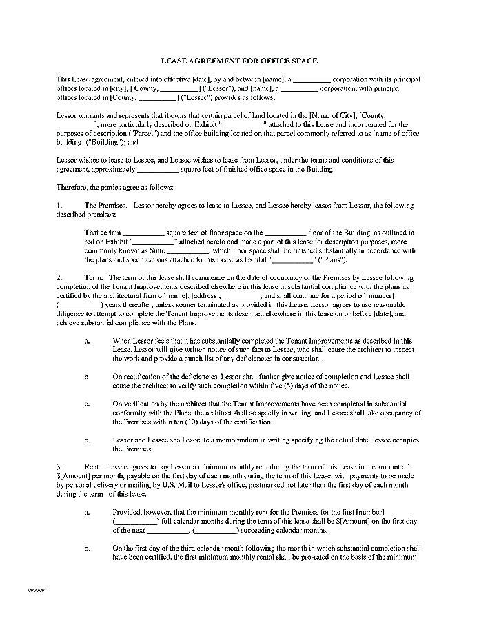 Commercial Property Lease Agreement Format