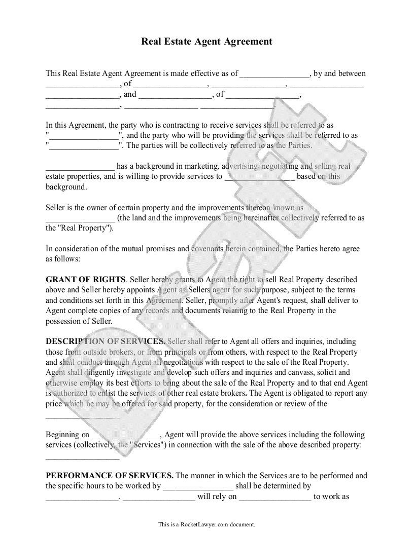 Commercial Real Estate Broker Agreement Sample