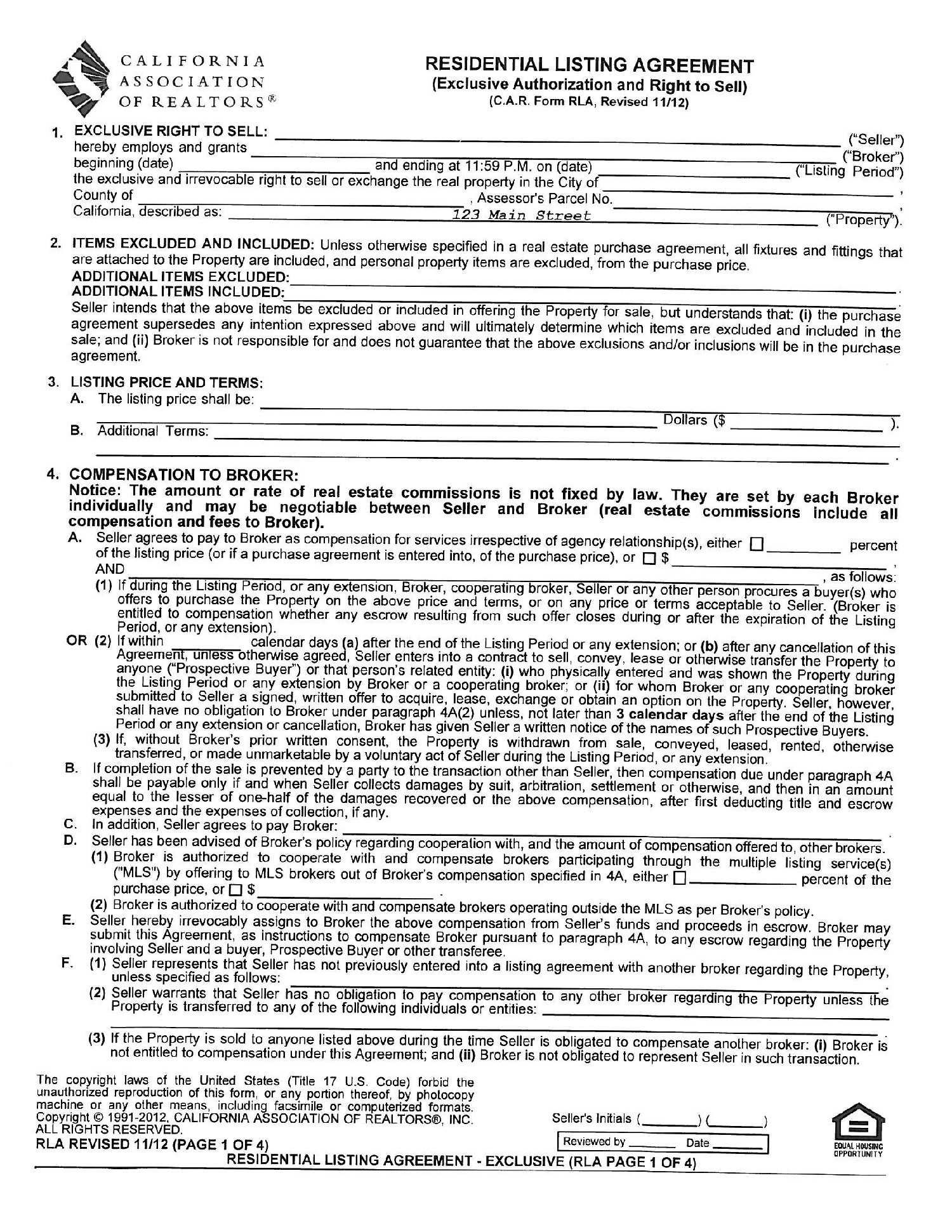 Commercial Real Estate Commission Agreement Template