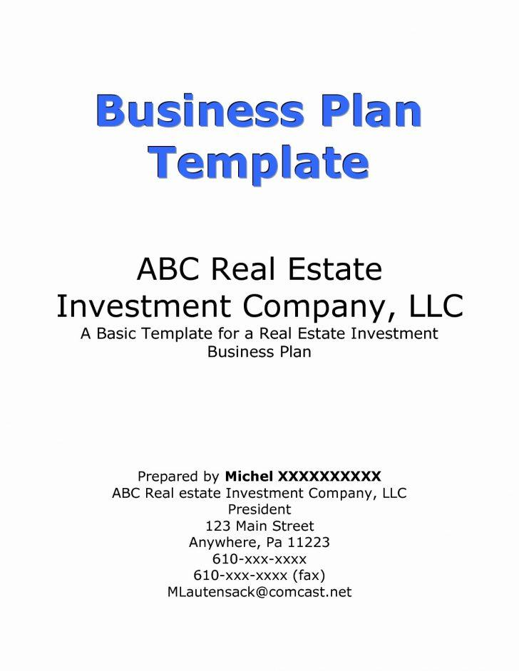 Commercial Real Estate Investment Business Plan Template