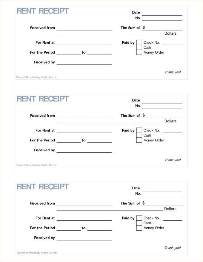 Commercial Rent Invoice Template
