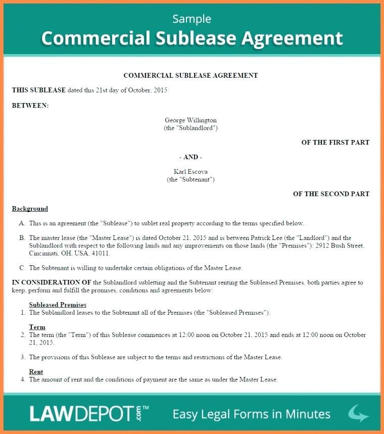 Commercial Rental Agreement Template South Africa