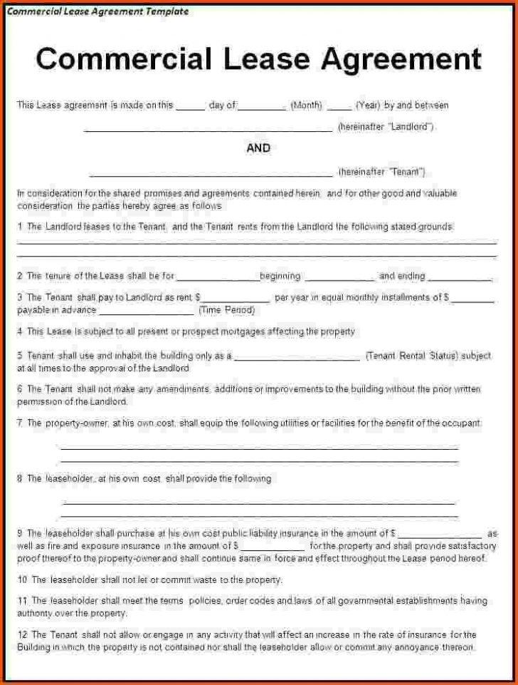Commercial Tenancy Agreement Template Free