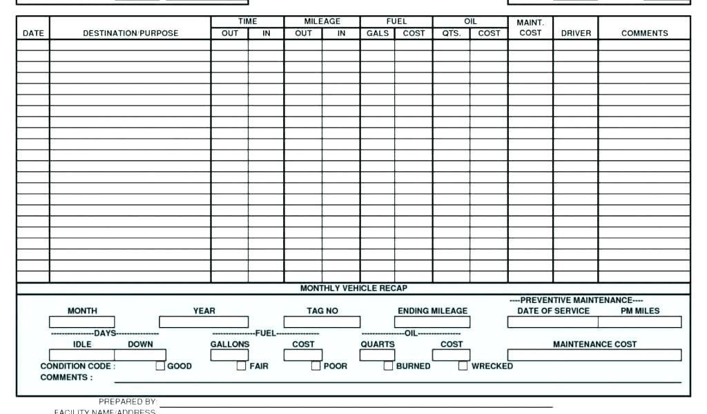 Commercial Truck Maintenance Schedule Template