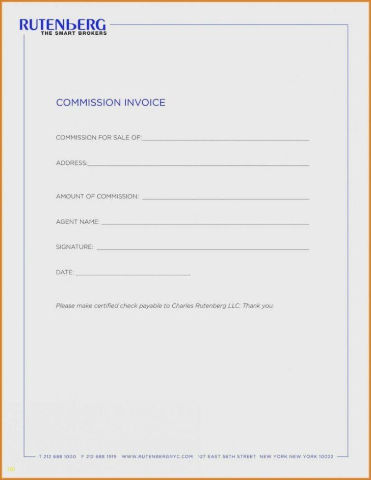 Commission Invoice Example