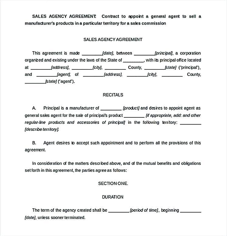 Commission Sales Agreement Template Free