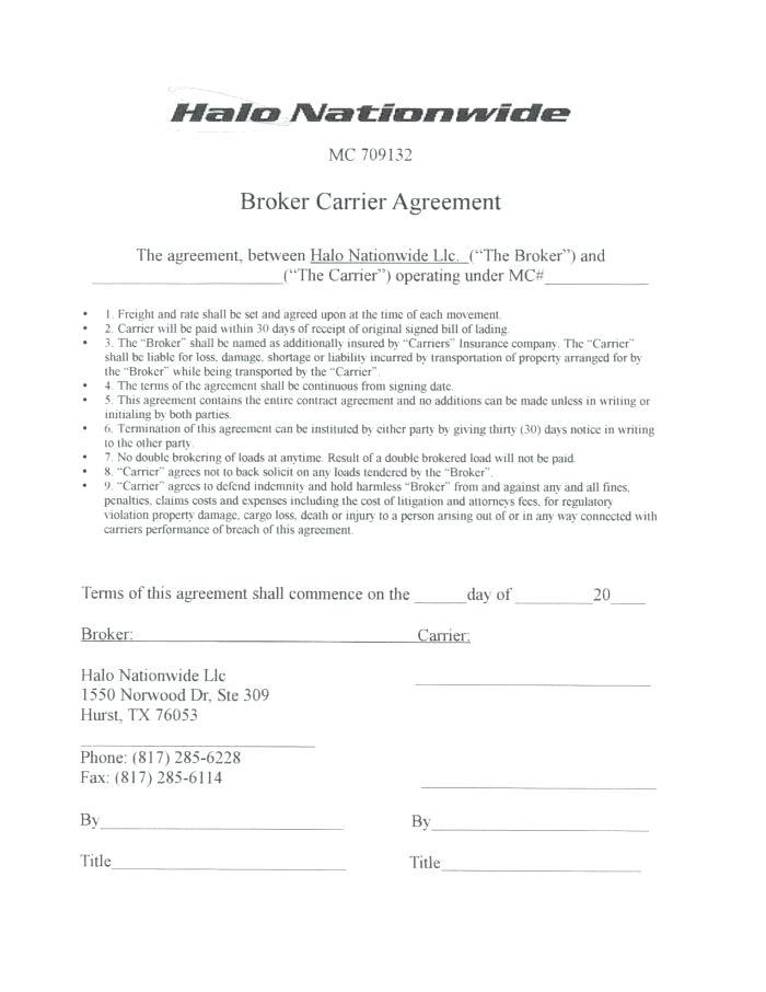 Commission Sharing Agreement Form