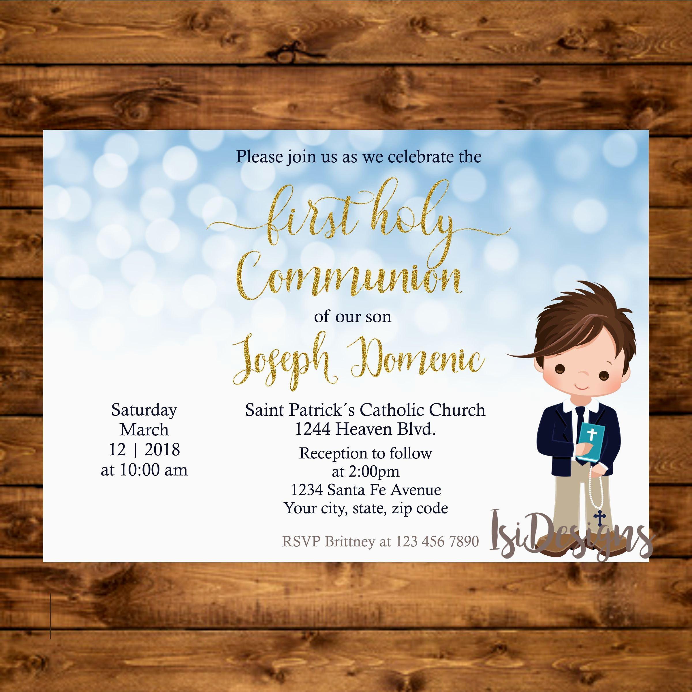 Communion Invitation Templates Printable