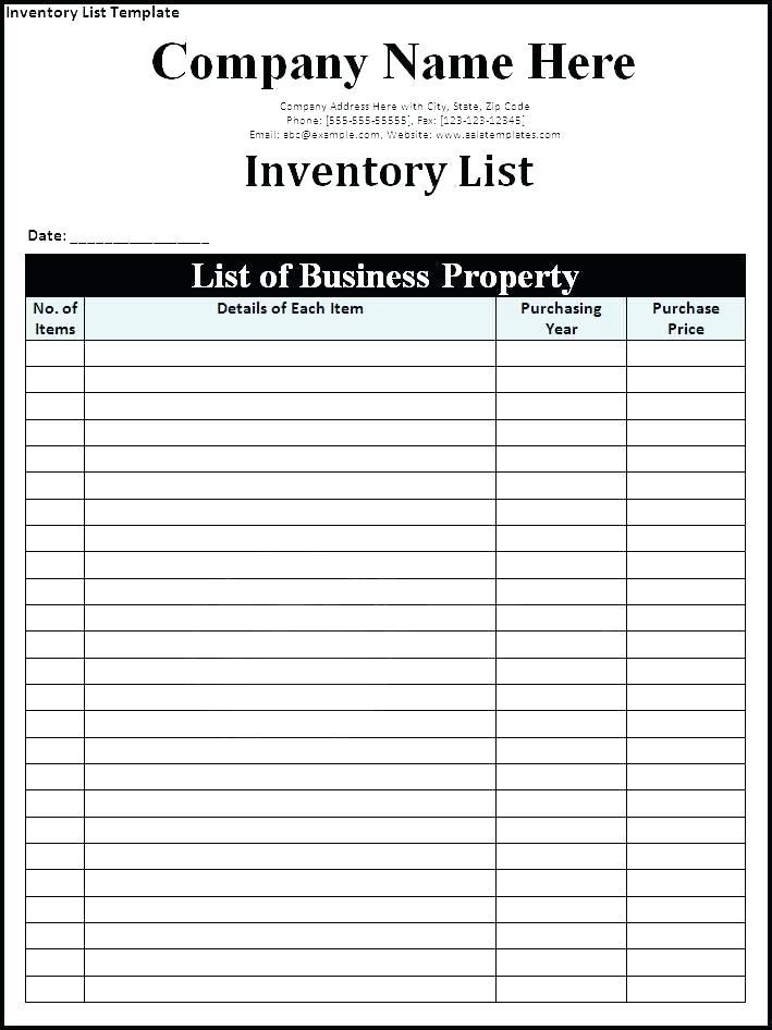 Company Asset Inventory Template