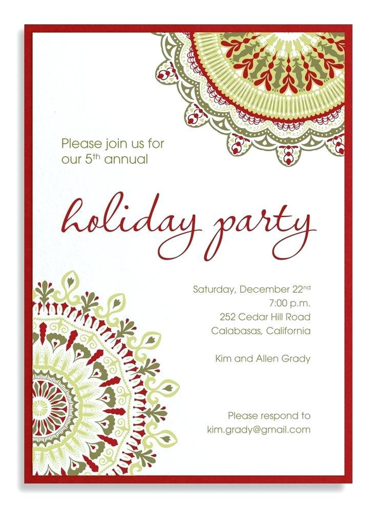 Company Christmas Invitation Templates