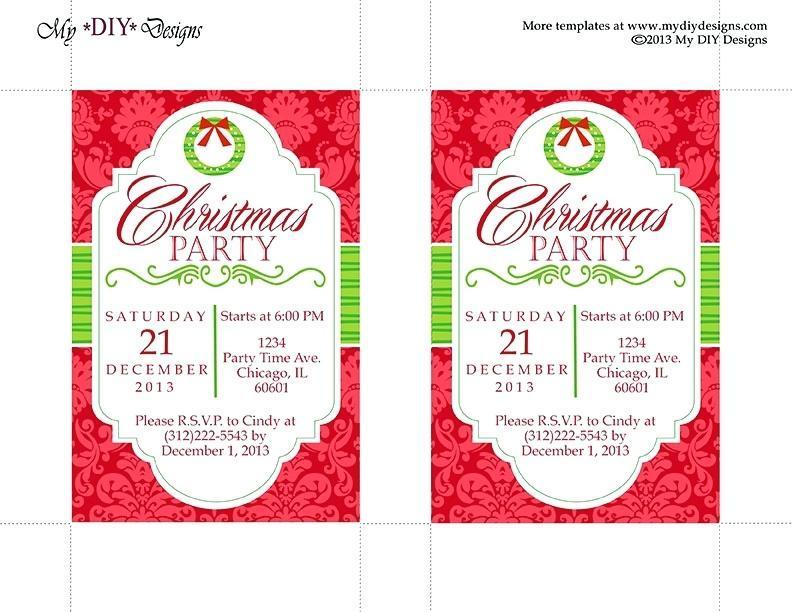 Company Christmas Party Invitations Templates
