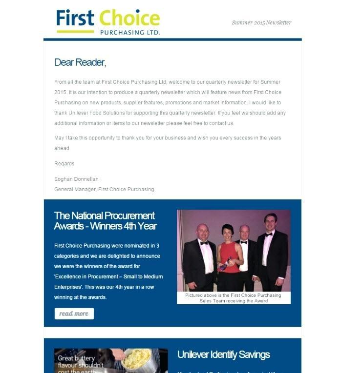 Company Quarterly Newsletter Template