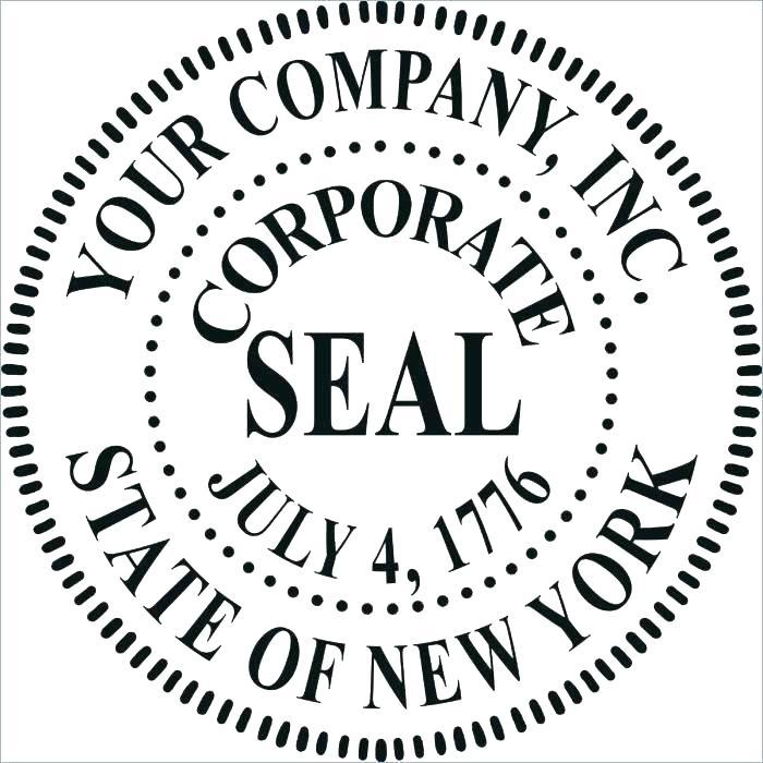 Company Seal Template .psd