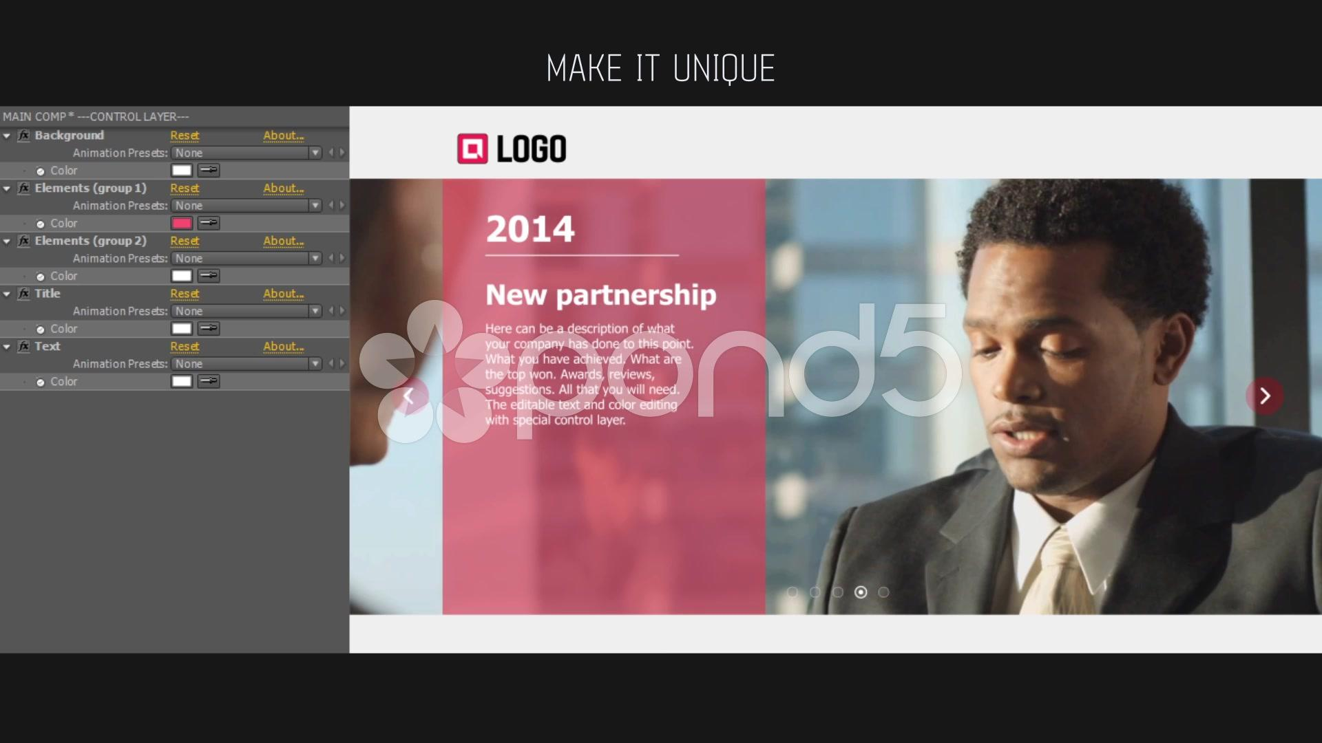 Company Timeline After Effects Project (videohive)