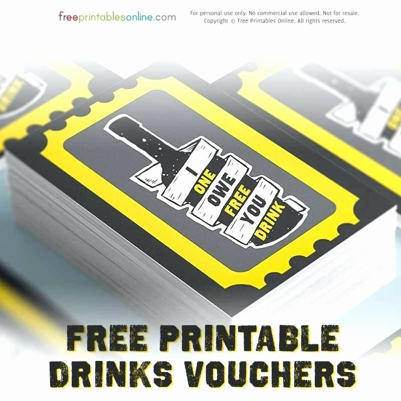 Complimentary Drink Ticket Business Card Templates