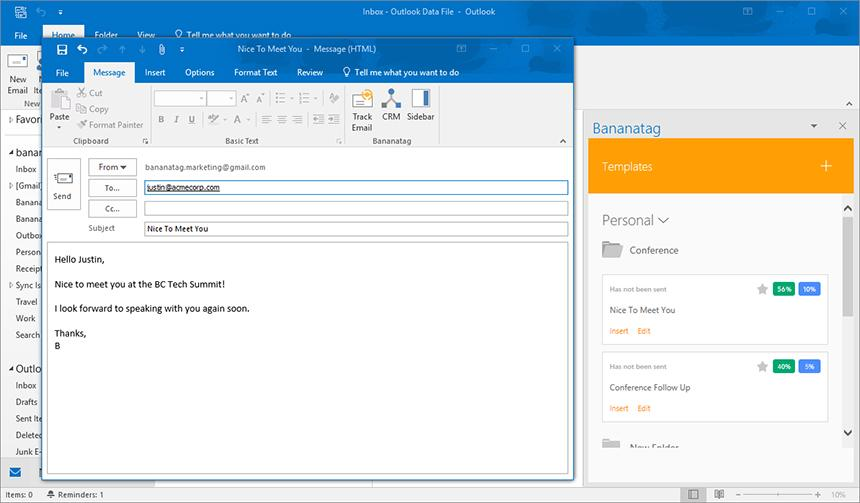 Compose Email From Template Outlook 2010