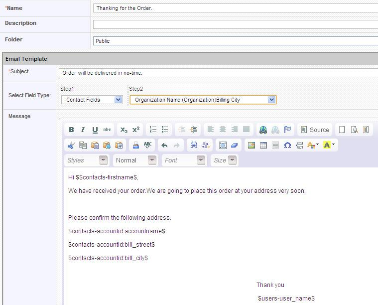 Compose Email Template