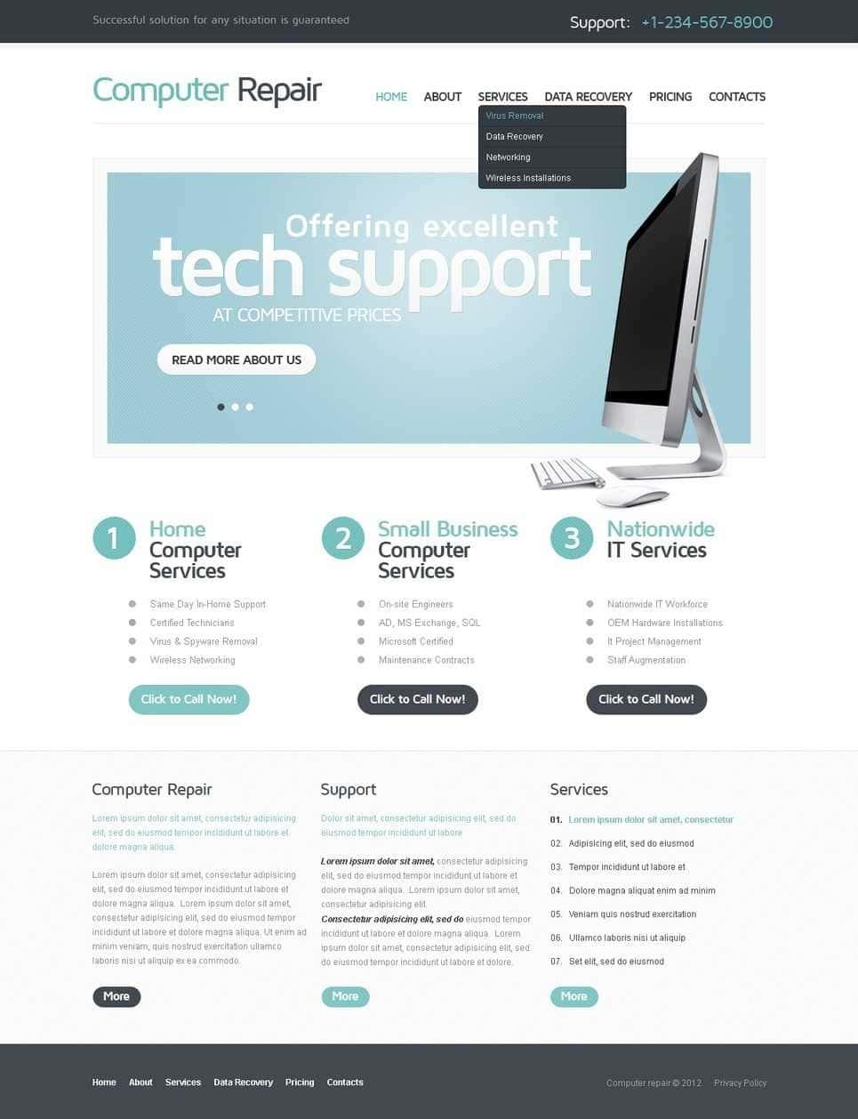 Computer Repair Flyer Template Free Download