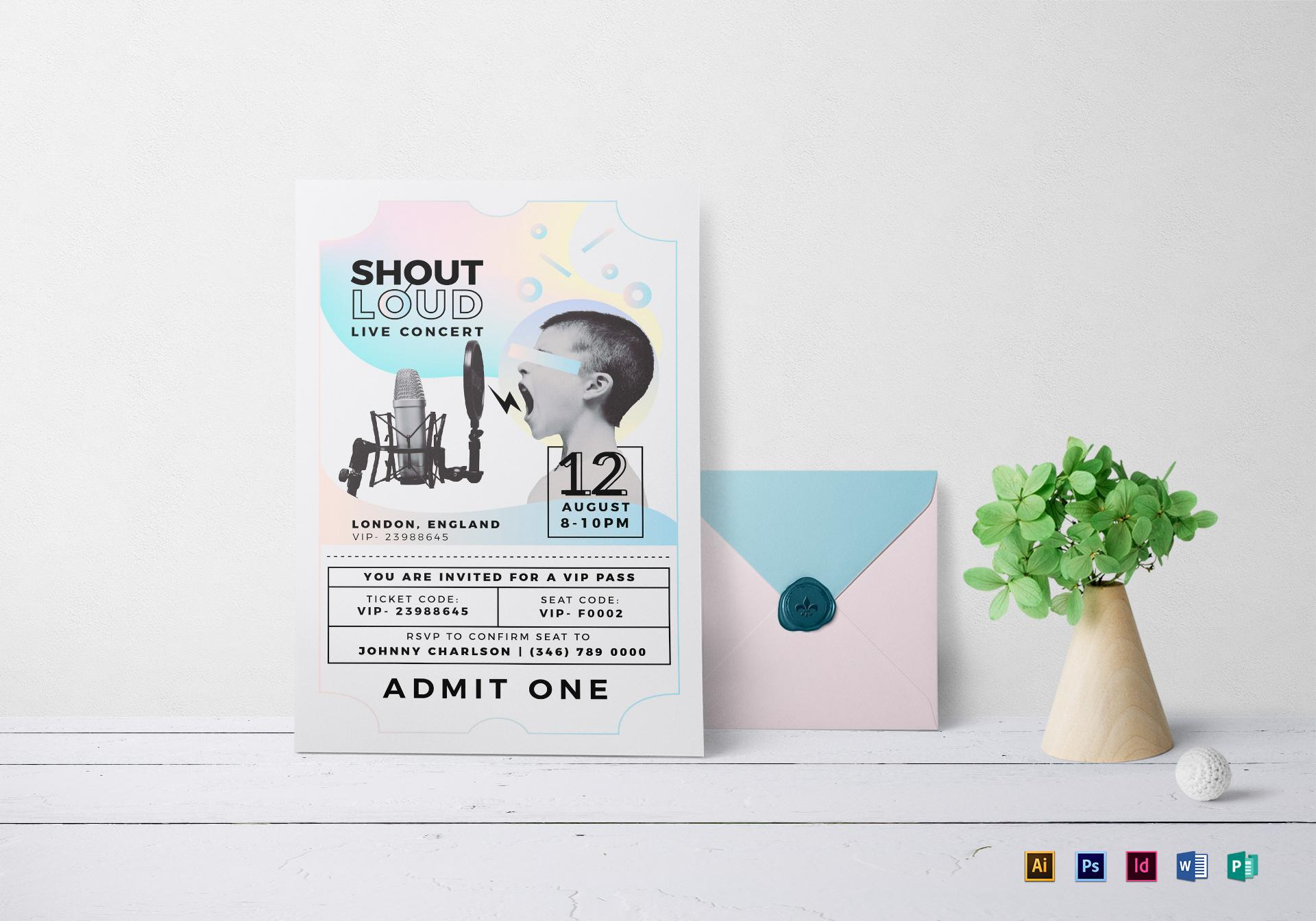Concert Invitation Template Word