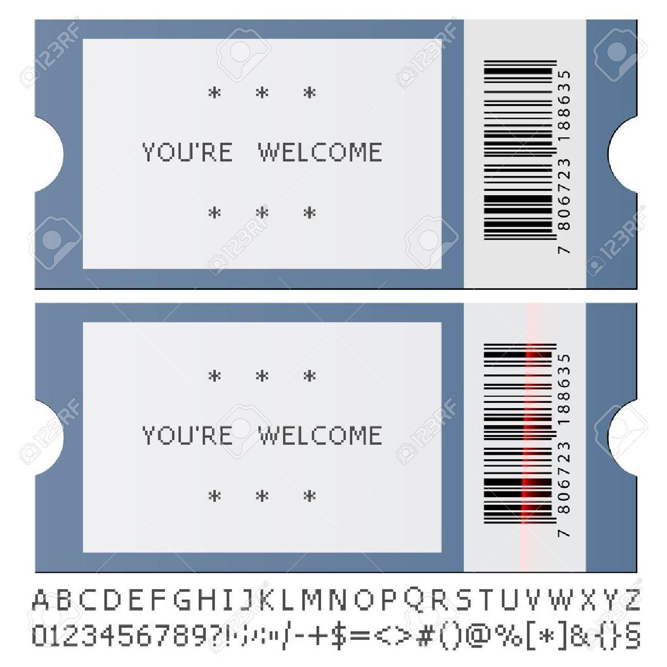Concert Ticket Invite Template
