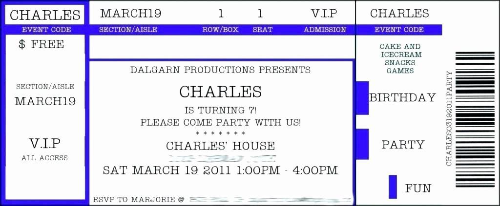 Concert Ticket Template Download