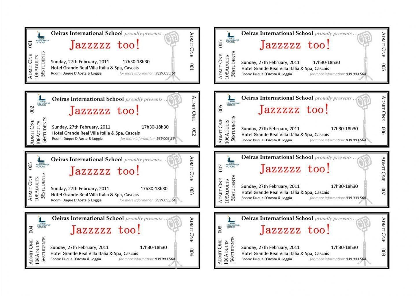 Concert Ticket Template Illustrator