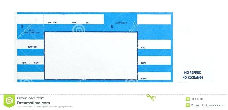 Concert Ticket Template Size
