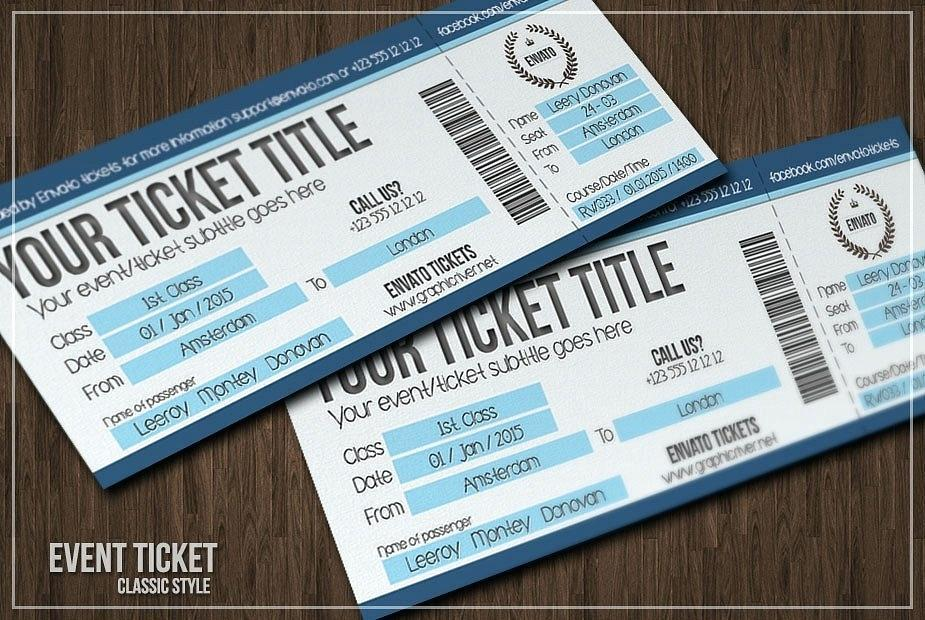 Concert Ticket Templates Photoshop