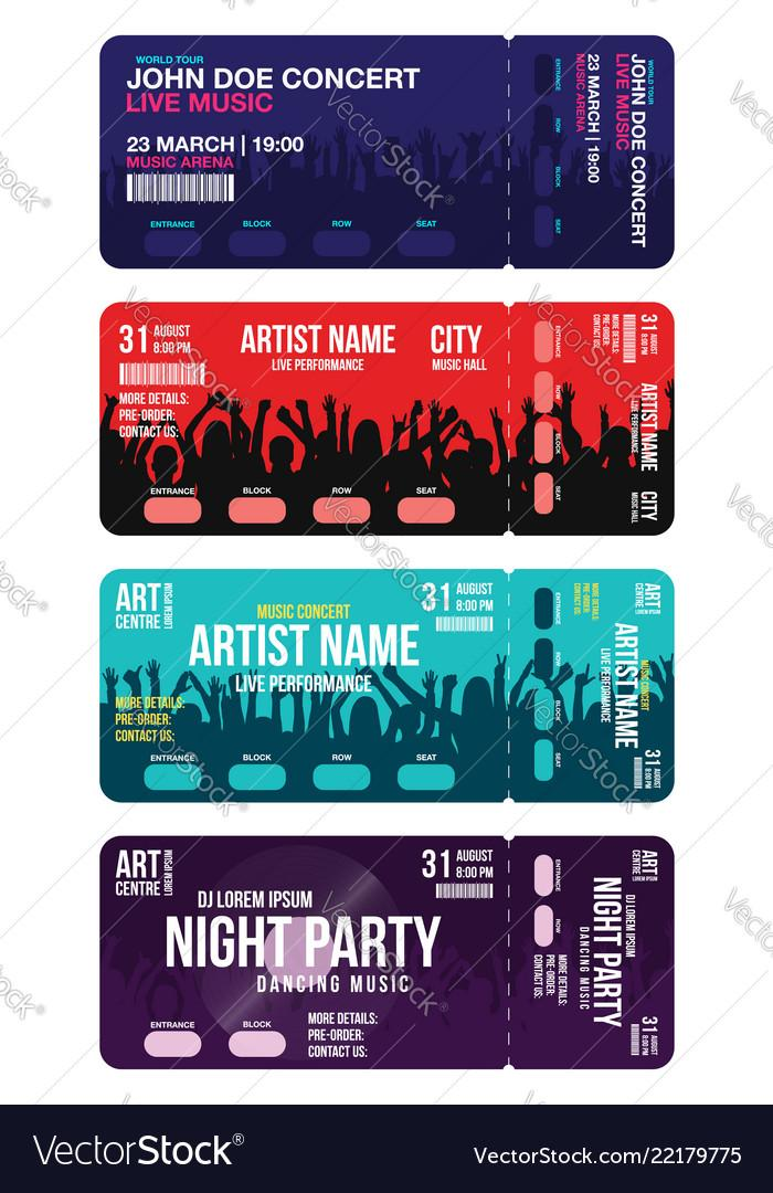 Concert Ticket Templates